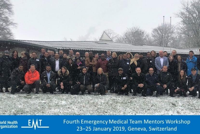 Muhammadiyah Disaster Management Center (MDMC) memenuhi undangan Fourth Emergency Medical Team (EMT) Mentor Workshop di Kota Genewa, Swiss.