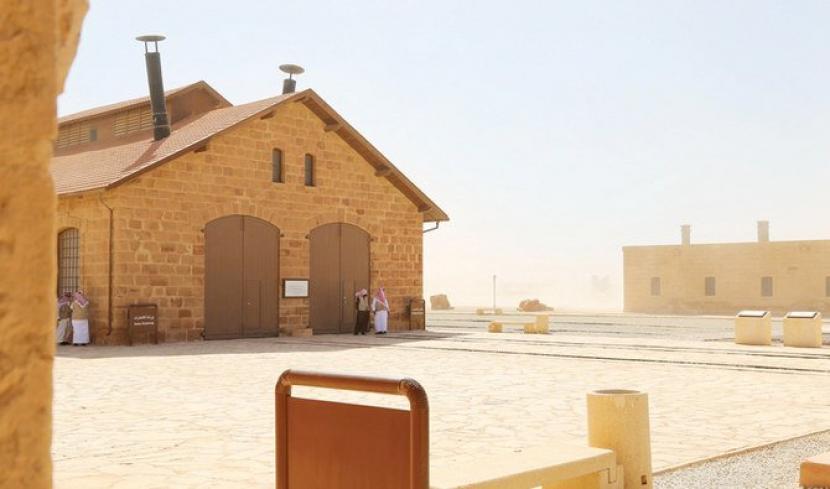 Museum Kereta Api Hejaz yang berlokasi di Al-Ula, Provinsi Madinah, Arab Saudi.