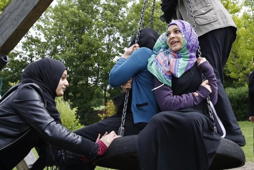 Muslim muda Inggris.