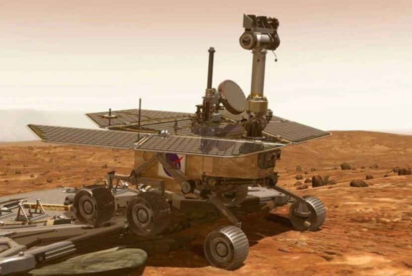 NASA mengirimkan kendaraan kedua bernama Opportunity, untuk mengeksplorasi Mars dan mencari tanda-tanda adanya air, pada 25 Januari 2004.