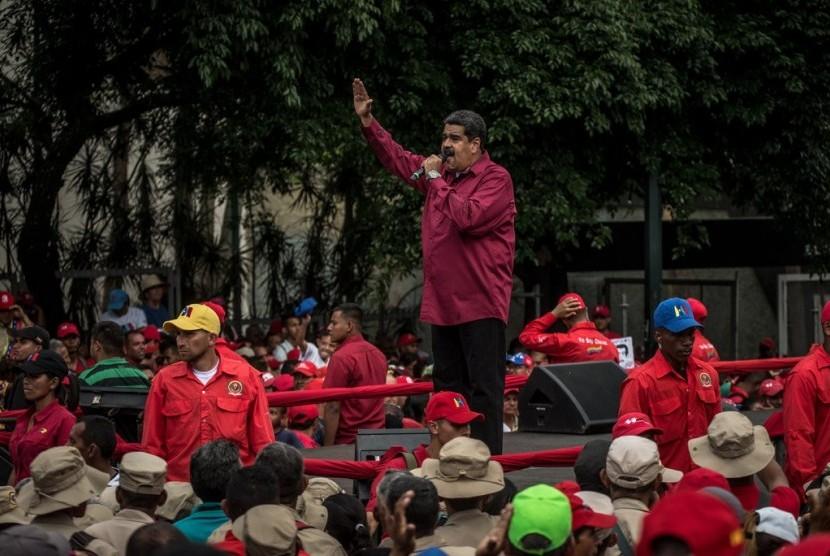 Nicolas Maduro saat kampanye beberapa waktu lalu