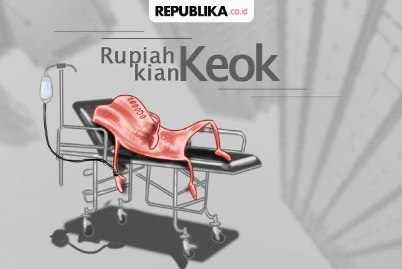 Rupiah weakening. (Illustration)