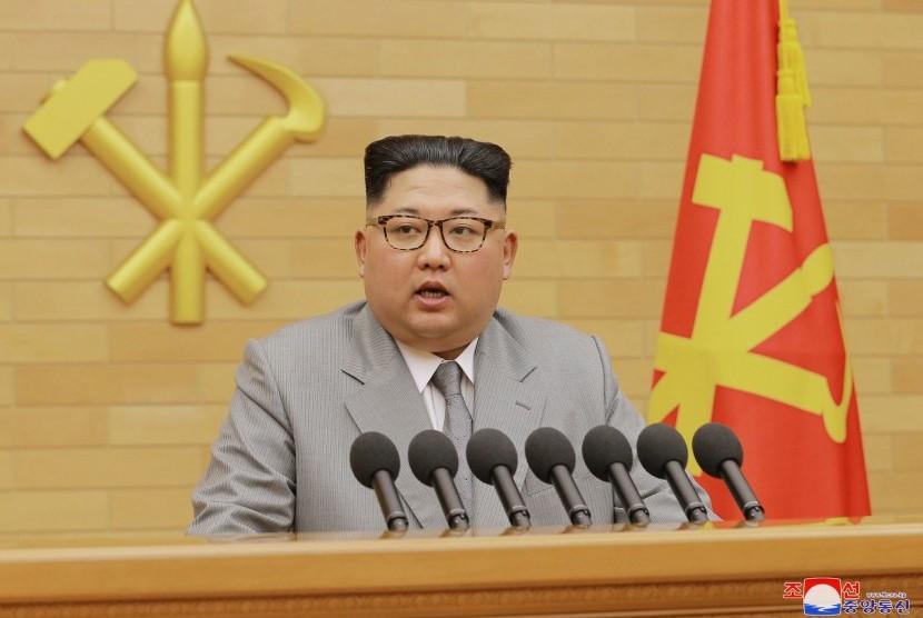 Pemimpin Korea Utara (Korut) Kim Jong-un.