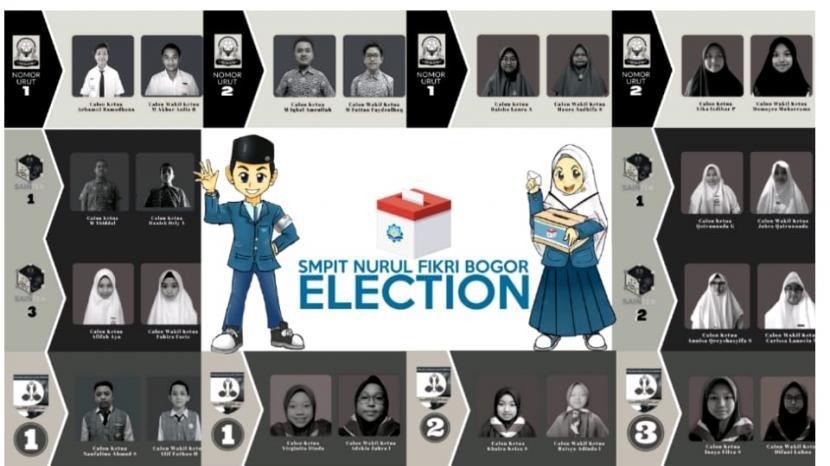 """-Nurul Fikri Boarding School Bogor menggelar pesta demokrasi yang dilakukan setiap tahun ajaran. Kegiatan tersebut bertajuk Student Election 2021 dengan tagline """"Your Voice, Your Choice"""". Student election dirancang sebagai sarana untuk mengukur ketercapaian Leadership School II."""