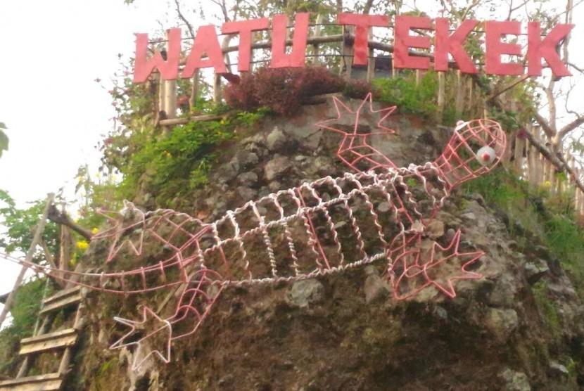 Objek wisata Watu Tekek.