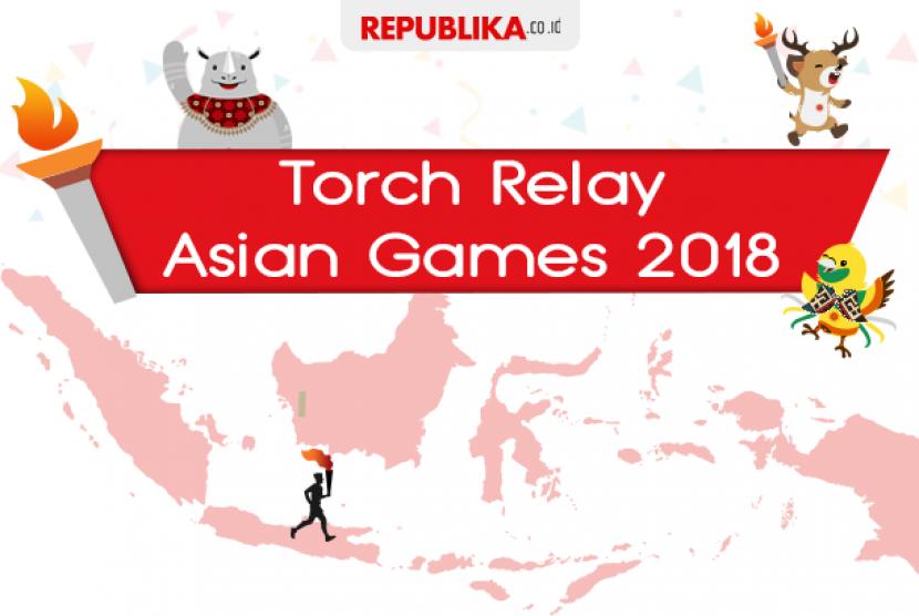 Obor Asian Games dibawa keliling 53 kota di Indonesia.
