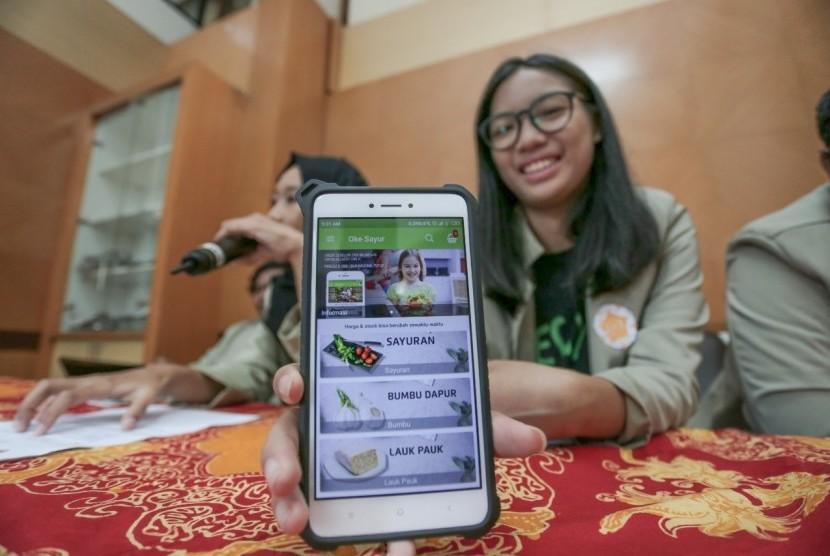 OkeSayur, aplikasi berbelanja sayur buatan sekelompok mahasiswa Universitas Gadjah Mada (UGM).