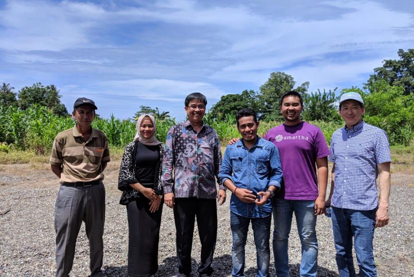 Otoritas Jasa Keuangan (OJK) bersama fintech Amartha melakukan kunjungan ke Sulawesi Tengah.