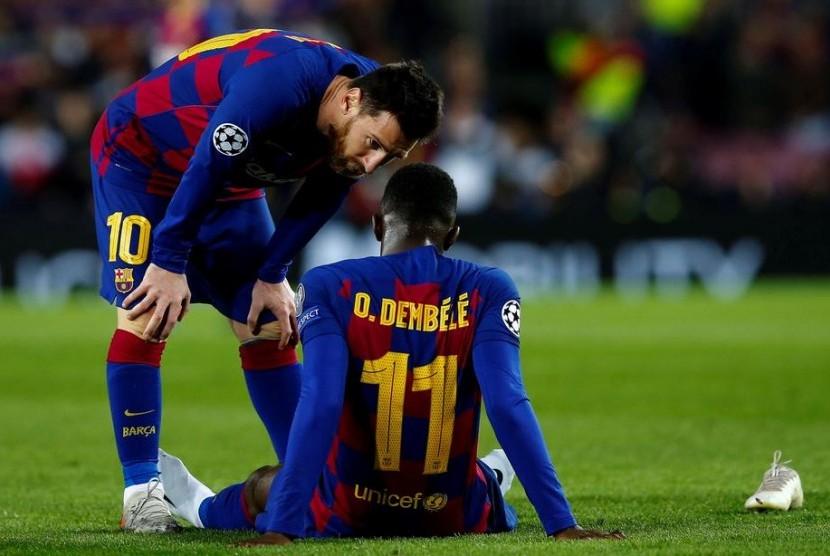 Agen Bantah Rumor Dembele Bakal Tinggalkan Barcelona | Republika ...