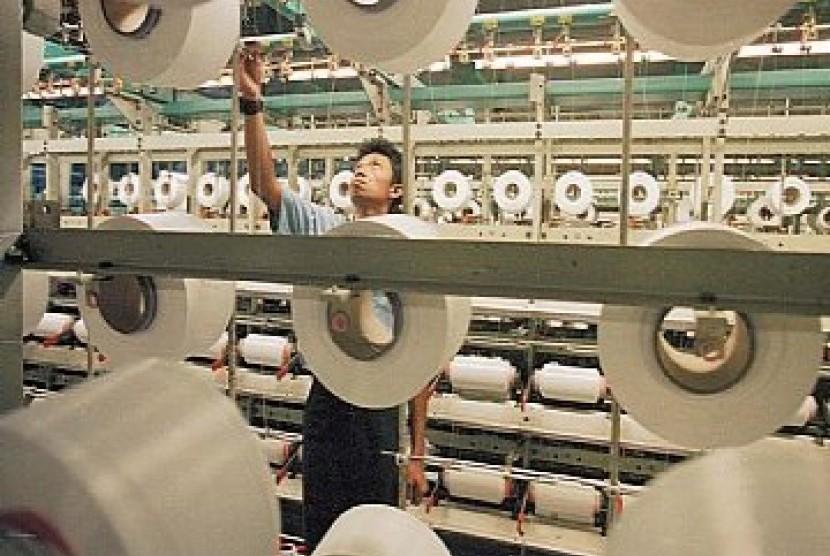 Pabrik tekstil, ilustrasi