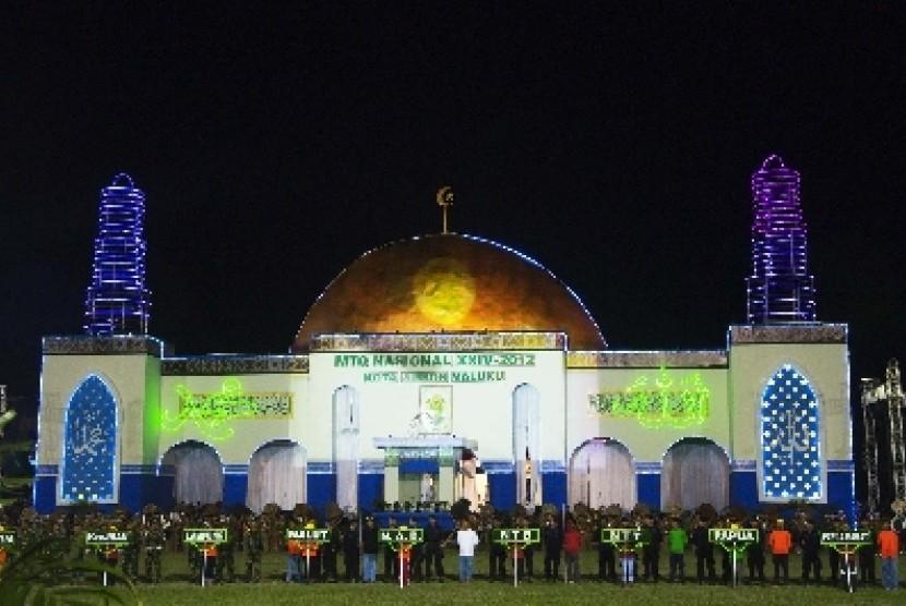 Panggung utama MTQ Nasional ke-24 di Kota Ambon, Maluku.
