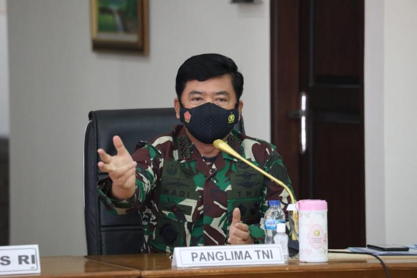 Panglima TNI Cek Penanganan Covid-19 di Malang. Panglima TNI Marsekal Hadi Tjahjanto.
