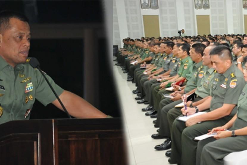 Panglima TNI merangkap KSAD Jenderal Gatot Nurmantyo.