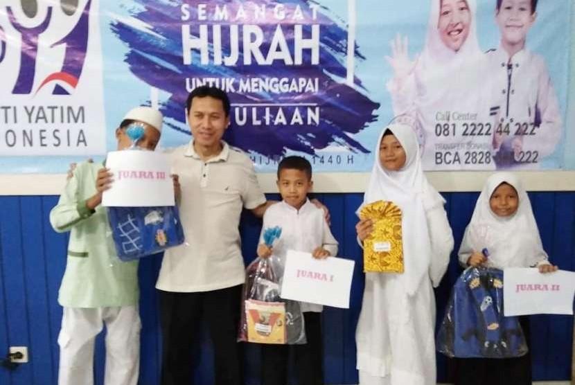 Panti Yatim Indonesia menggelar perlombaan bagi anak yatim binaan dalam rangka menyambut Tahun Baru Islam 1440 Hijriah.
