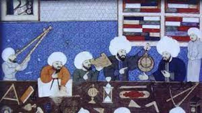 Para cendikiawan di Bayt Al Hikmah Baghdad pada abad 9 M.
