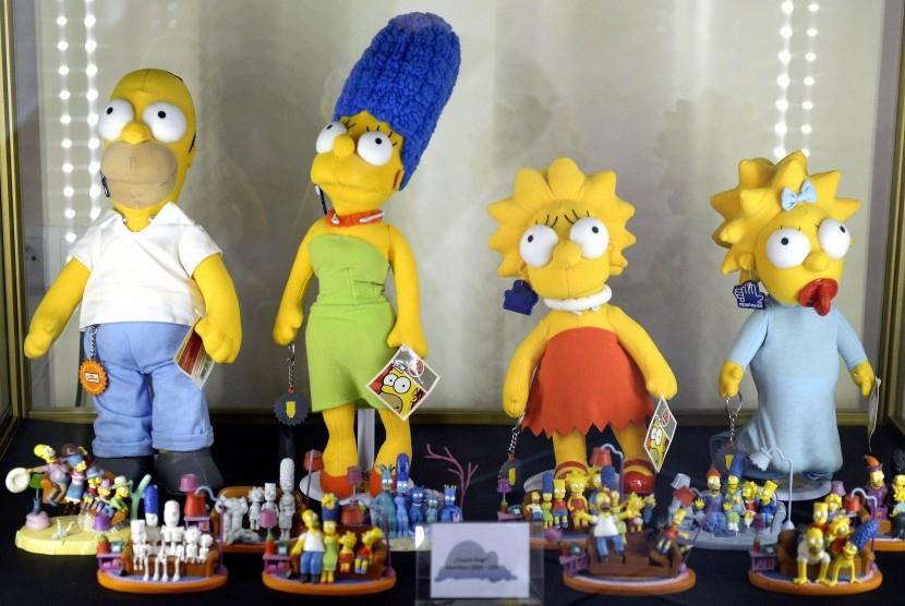 Para karakter dari serial populer The Simpsons.