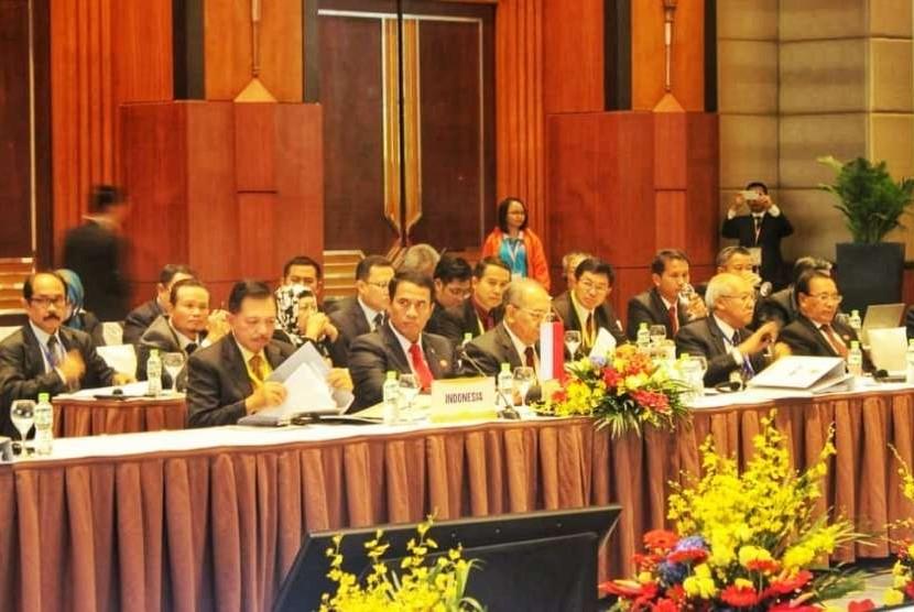 Para menteri pertanian, perikanan, dan kehutanan ASEAN (AMAF) ke-40 di Hanoi, Vietnam