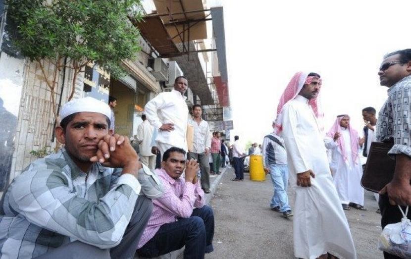 Para pekerja Asing di Arab Saudi.