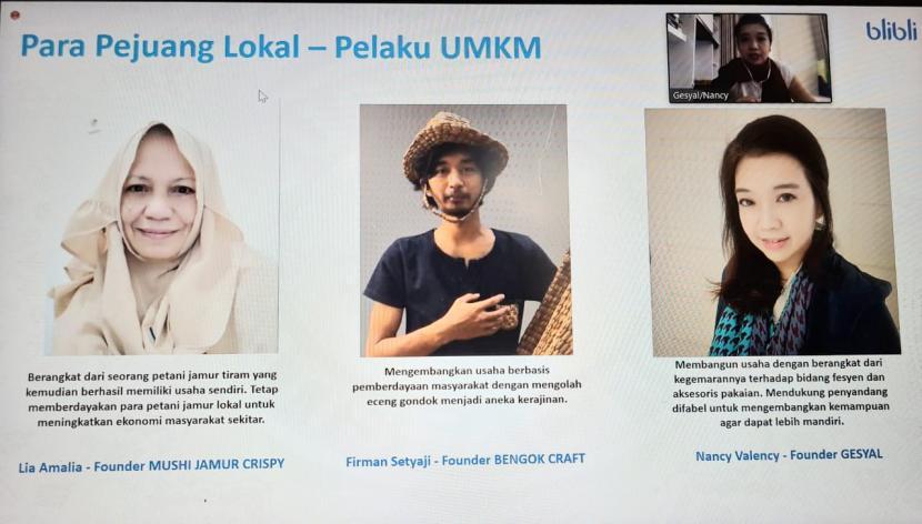 Para pelaku UMKM yang bergabung dengan Blibli menjadi Pejuang Lokal