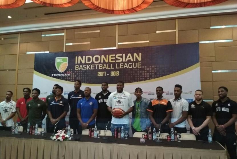 Para pemain asing Indonesian Basketball League musim 2017/2018.