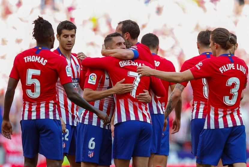 Para pemain Atletico Madrid.