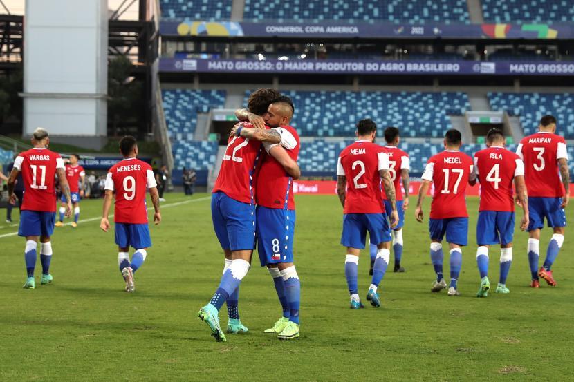 Para pemain Cile pada Copa America 2021