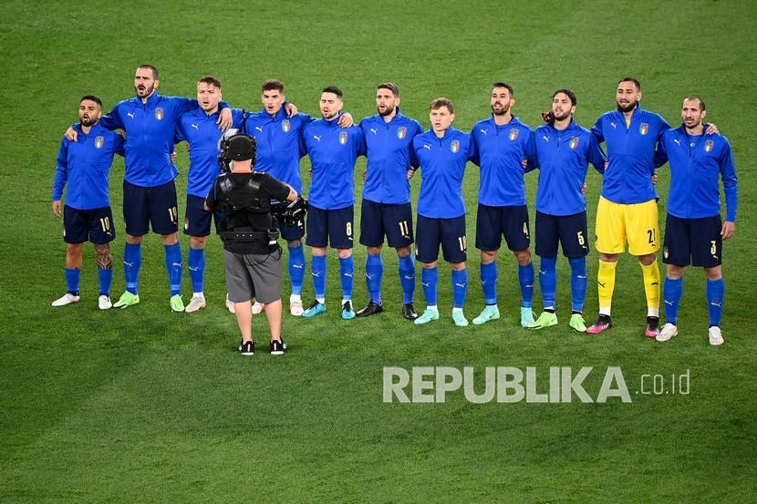 Para pemain timnas Italia.