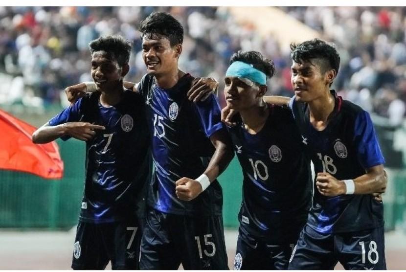 Para pemain Kamboja U-22.