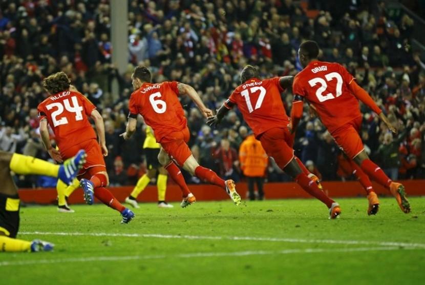 Para pemain Liverpool (ilustrasi)