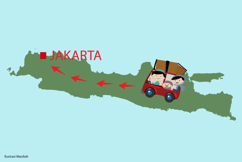Para pendatang ke Jakarta (ilustrasi)