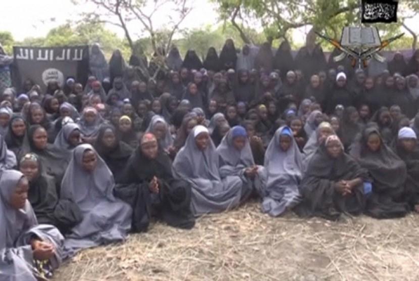 Para perempuan yang ditawan Boko Haram.