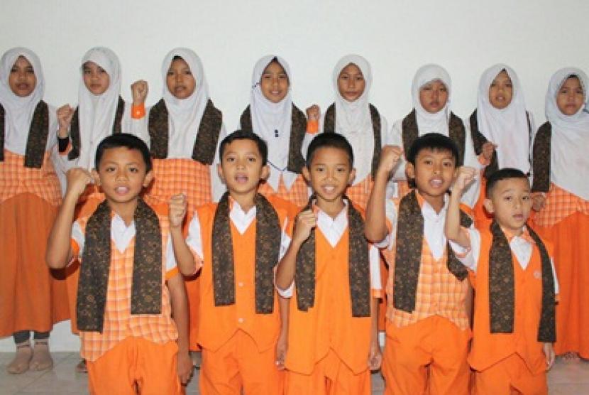 Para peserta karantina penghafal Alquran.
