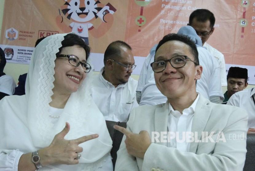 Pasangan Calon Wali Kota dan Wakil Wali Kota Bandung, Nurul Arifin dan Chairul Yaqin Hidayat