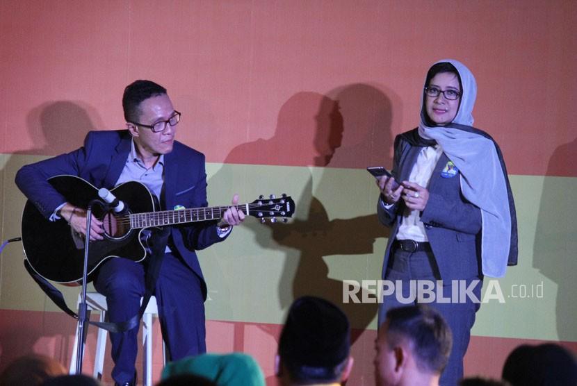 Pasangan calon wali kota dan wakil wali kota Bandung Nurul Arifin dan Chairul Yaqin Hidayat.