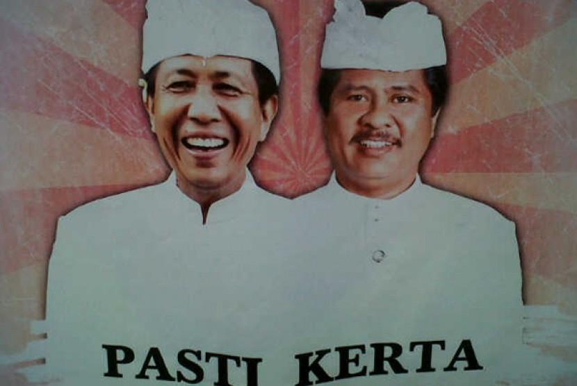 Pasangan I Ketut Sudikerta dan Made Mangku Pastika