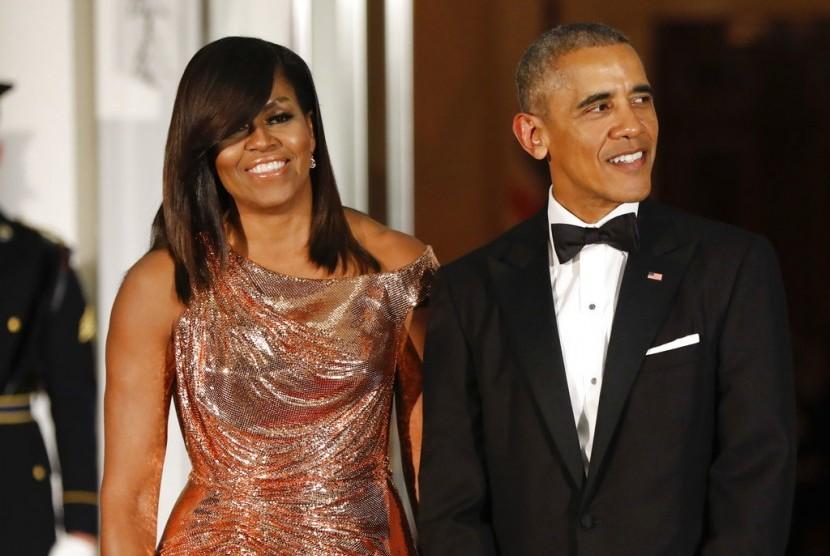 Pasangan Michelle dan Barack Obama.
