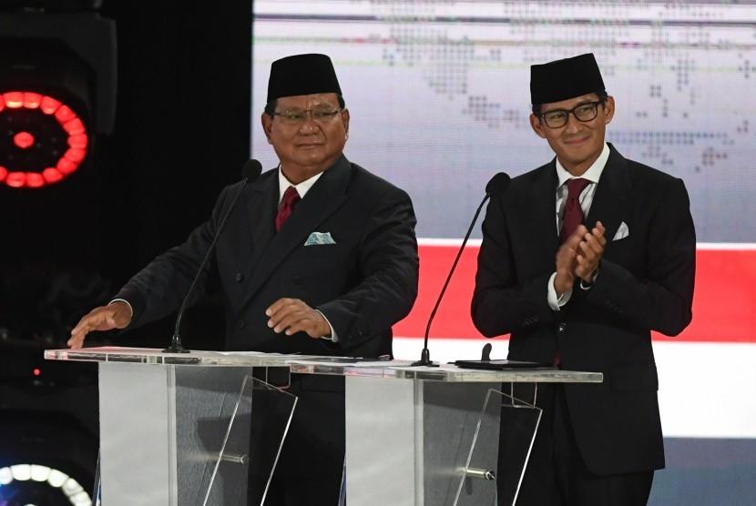 Pasangan nomor urut 02, Prabowo Subianto dan Sandiaga Uno.