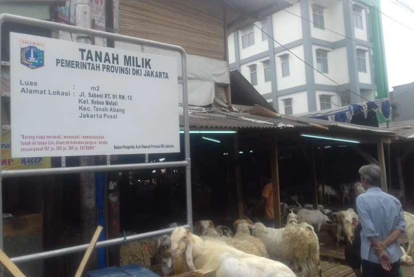 Pasar Kambing Tanah Abang yang diklaim Pemprov DKI Jakarta, Rabu (8/8).