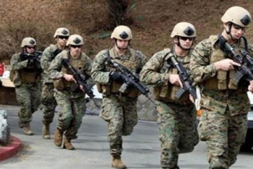 Pasukan marinir AS saat beraksi di Korsel, beberapa waktu lalu.