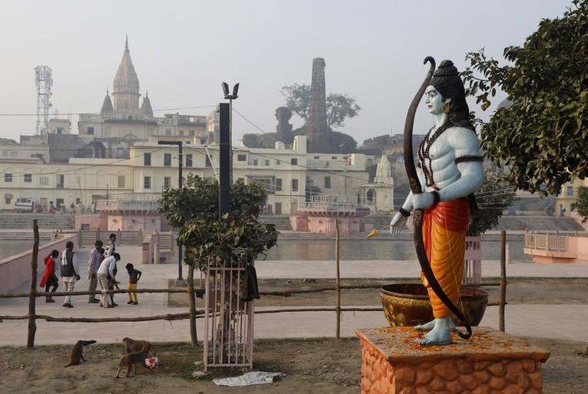 India Mulai Pembangunan Kuil di Situs Suci Muslim Ayodhya