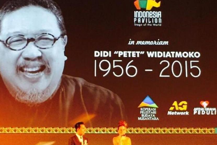Paviliun Indonesia mengadakan in memoriam Didi Petet di Auditorium Milan Expo 2015 pada Selasa (17/8) malam.