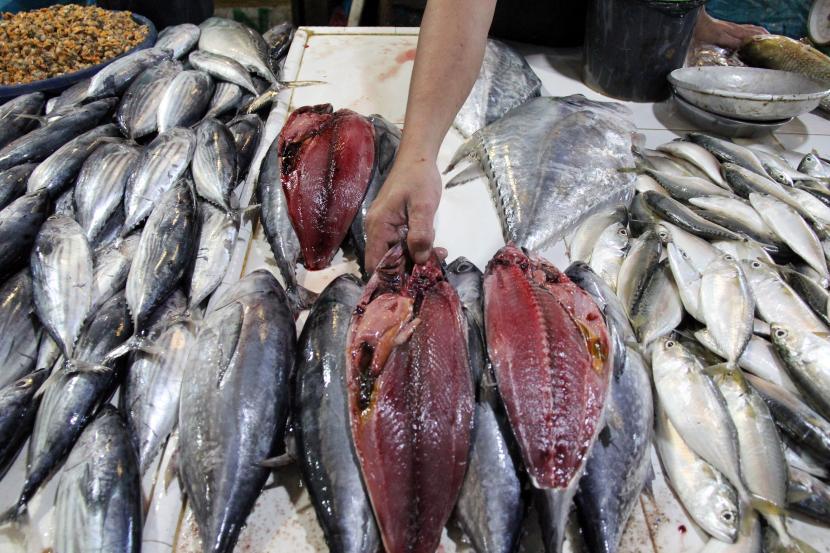 Harga Ikan laut di Pasar Tradisional Sukabumi Naik (ilustrasi).