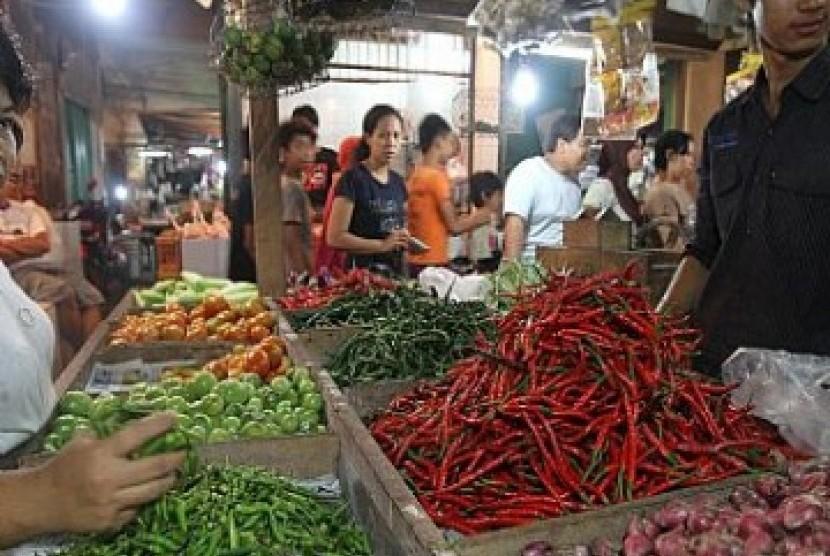 Pedagang pasar, ilustrasi