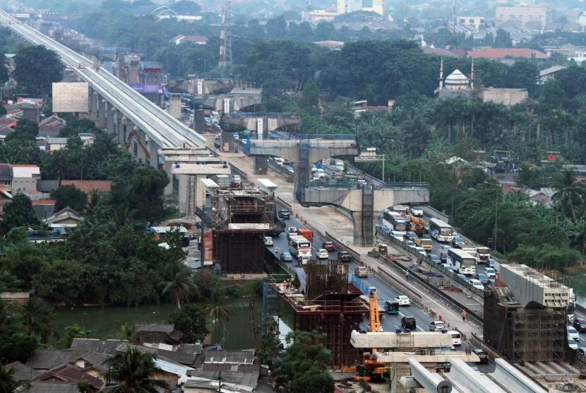 Elevated toll road Jakarta-Cikampek II in Bekasi, West Java.