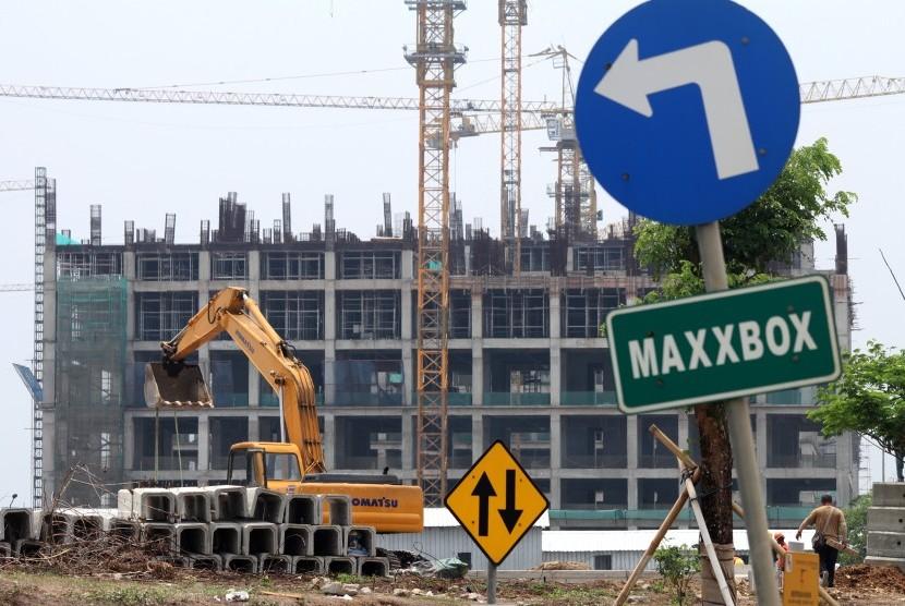 Construction of Meikarta apartment, Cikarang, Bekasi, West Java, Saturday (Nov 3).