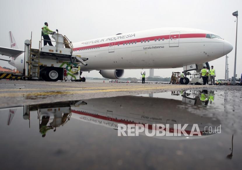 Suasana di Terminal Cargo Bandara Soekarno Hatta, Tangerang, Banten, Senin, (6/9). PT Angkasa Pura (AP) II (Persero) berkomitmen untuk memperkuat sistem transportasi nasional (sistranas).