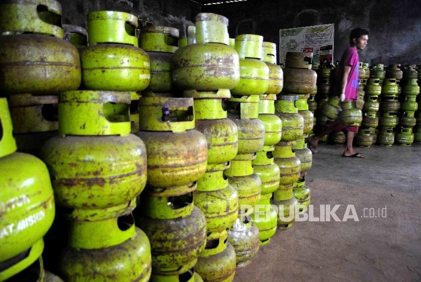 Elpiji tiga kilogram atau gas melon (ilustrasi)