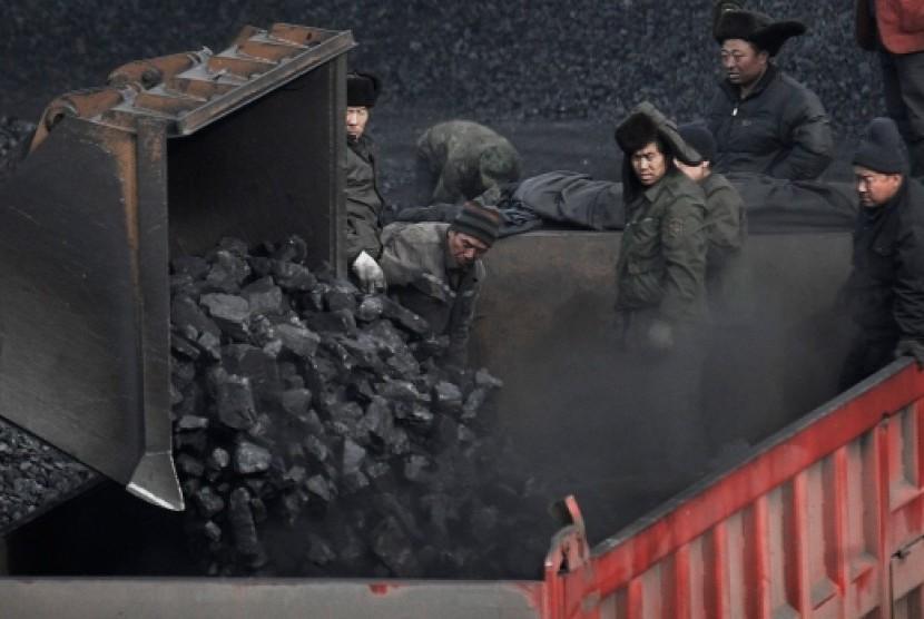 Pekerja tambang batubara di Cina.