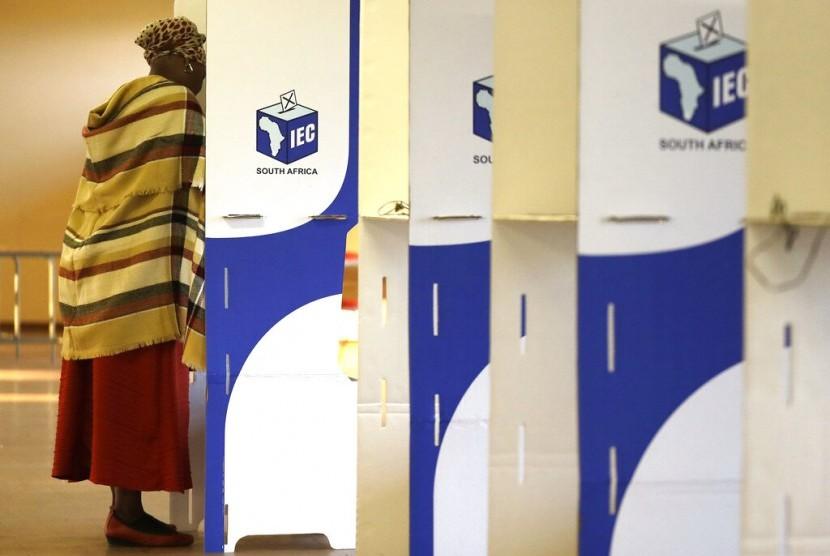 Pelaksanaan pemilihan umum di Afrika Selatan.