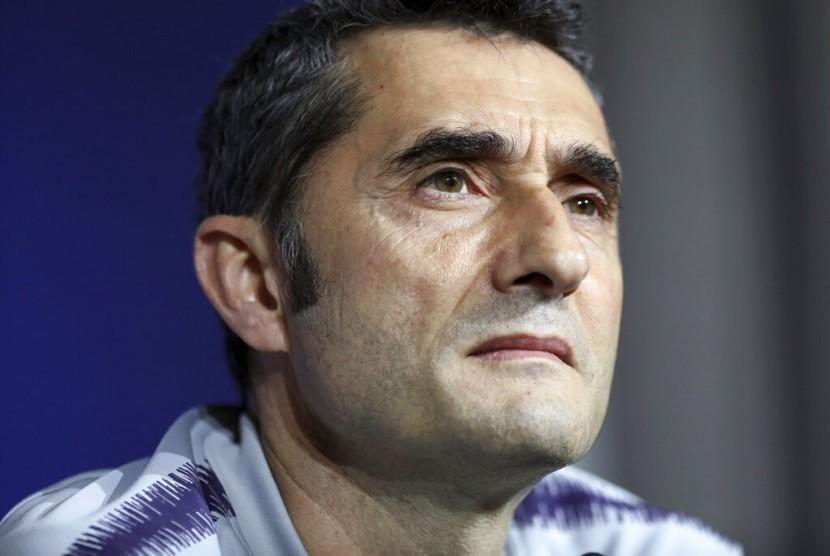 Pelatih Barcelona Ernesto Valverde.
